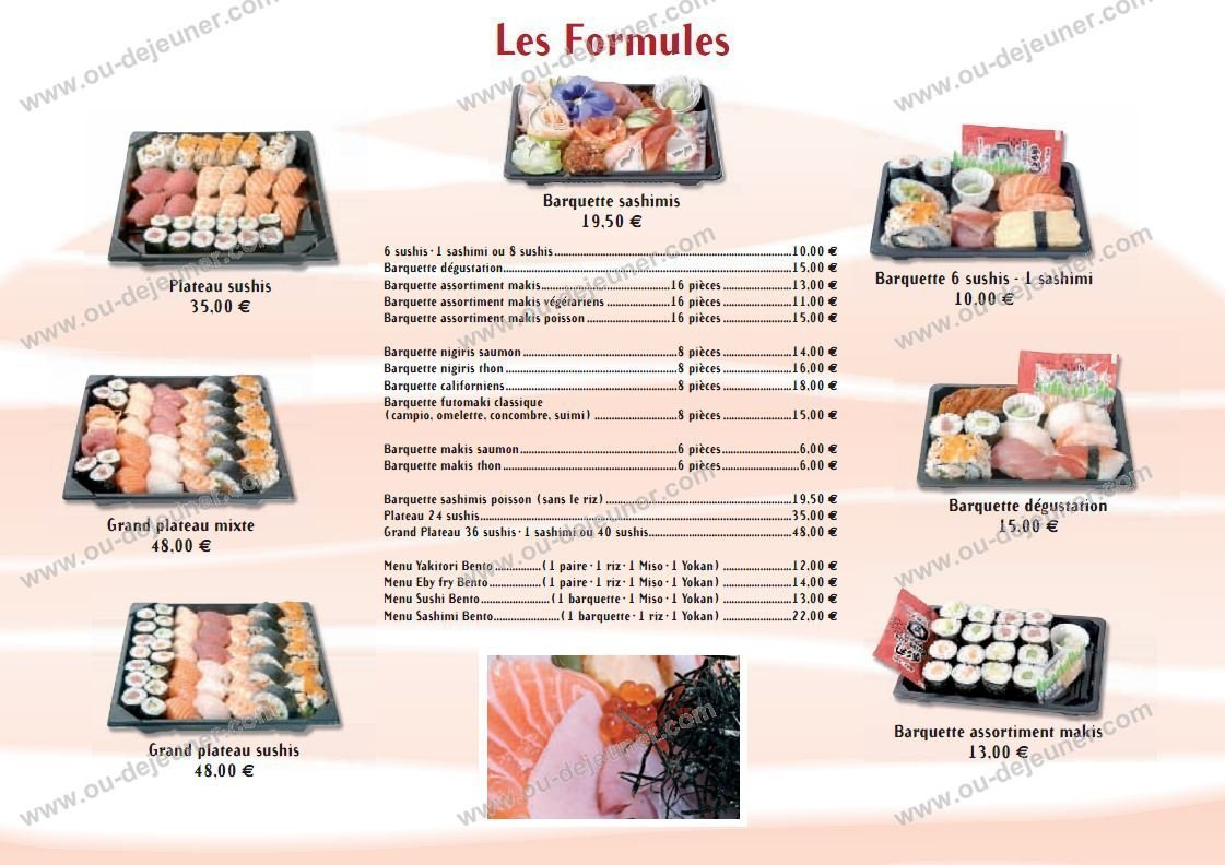 le sushi bar montpellier carte et menu en ligne. Black Bedroom Furniture Sets. Home Design Ideas