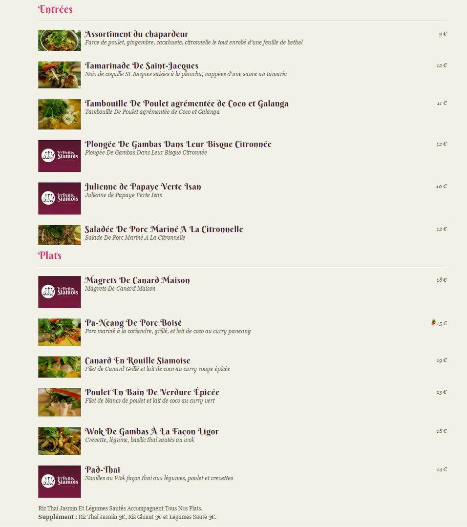 Voir le menu complet (1 page)