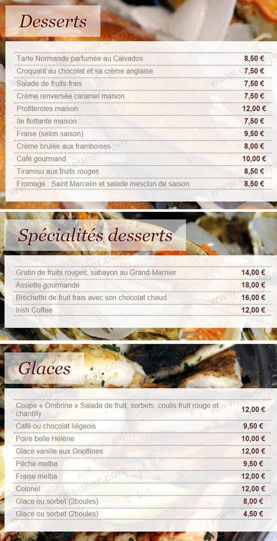 La Motte Restaurant Menu