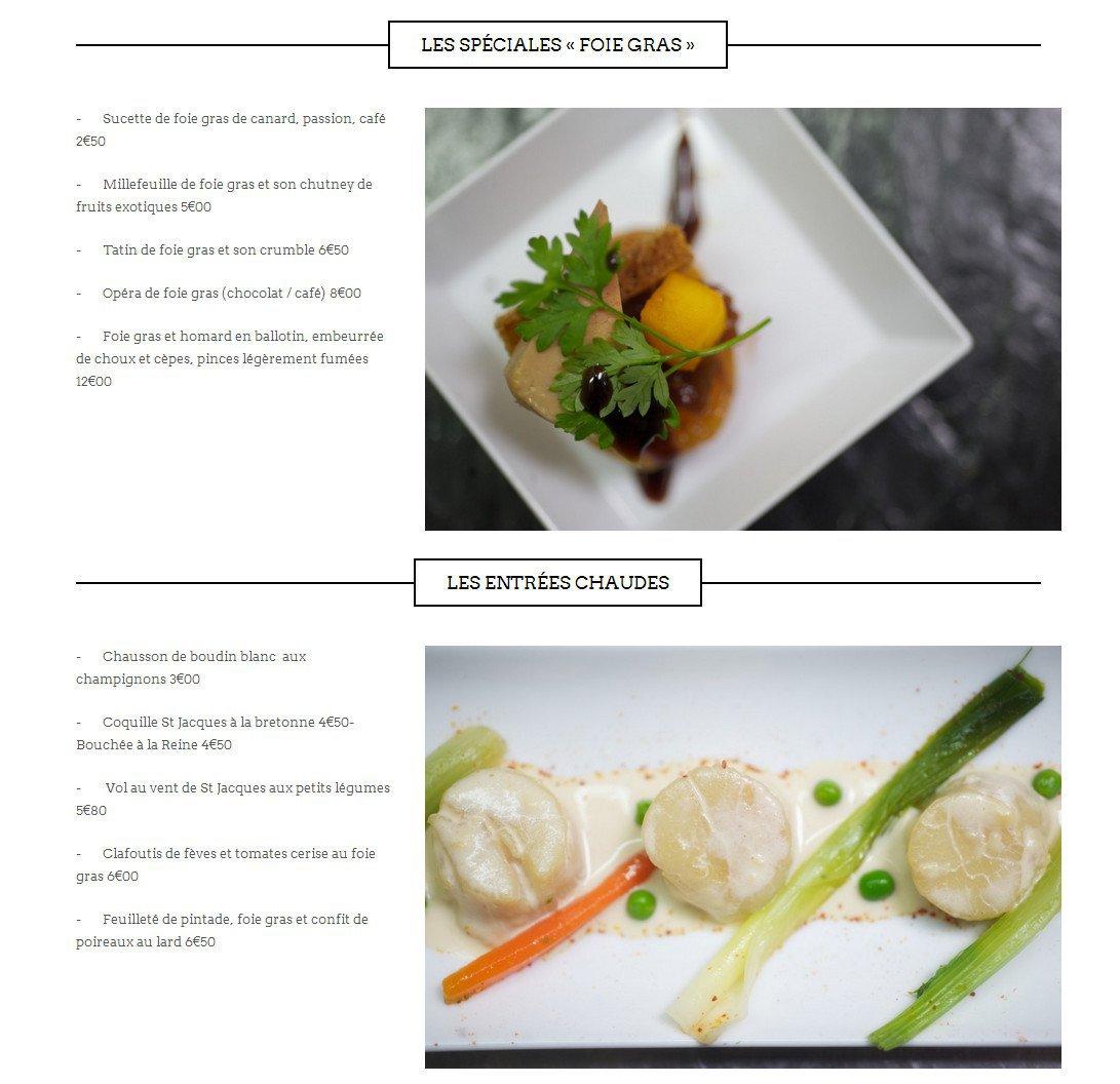 Ruellan traiteur saint malo carte menu et photos for Entree chaude original