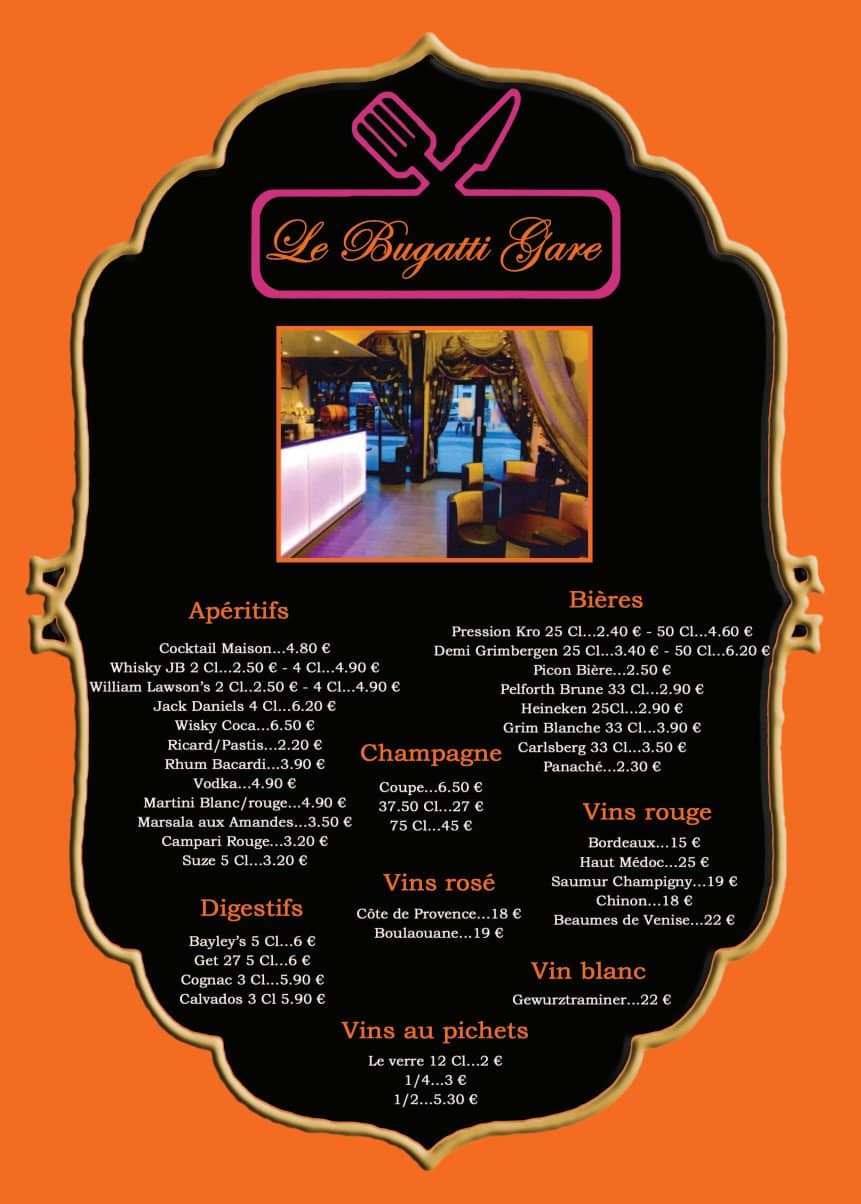 Le bugatti gare chateauroux carte menu et photos for Bugatti pizza