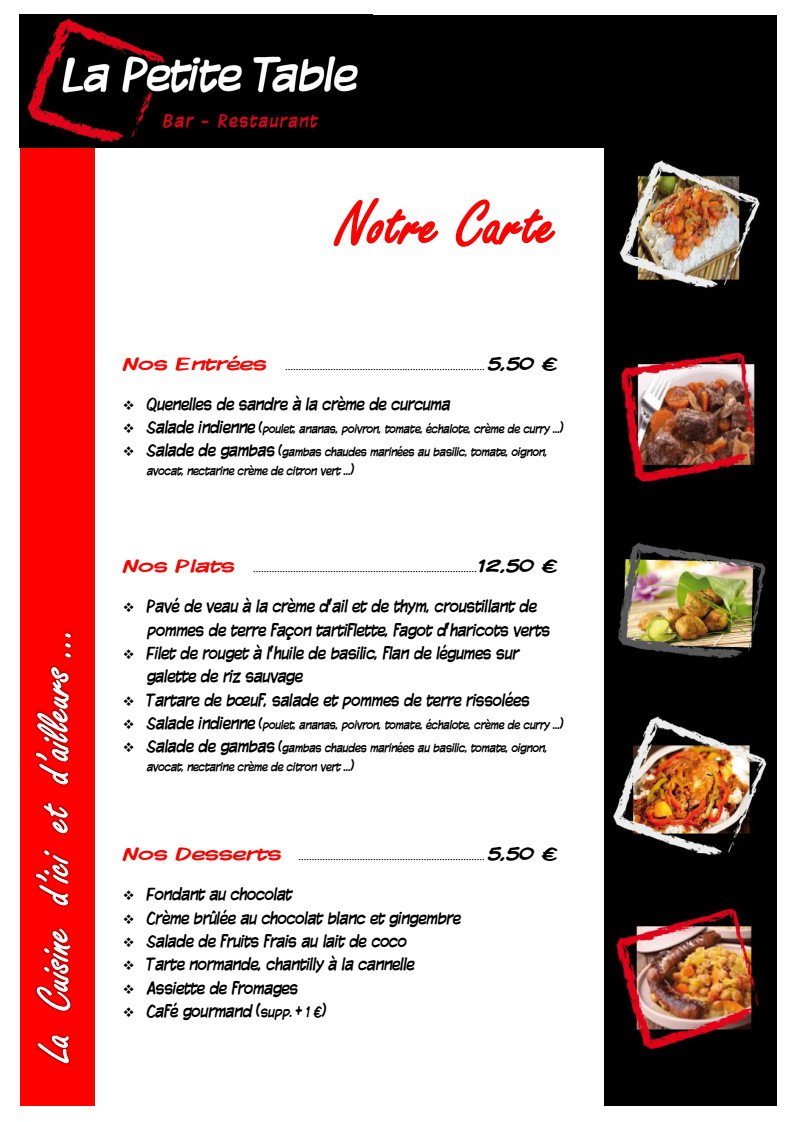 La petite table tours carte menu et photos - La petite table eygalieres ...