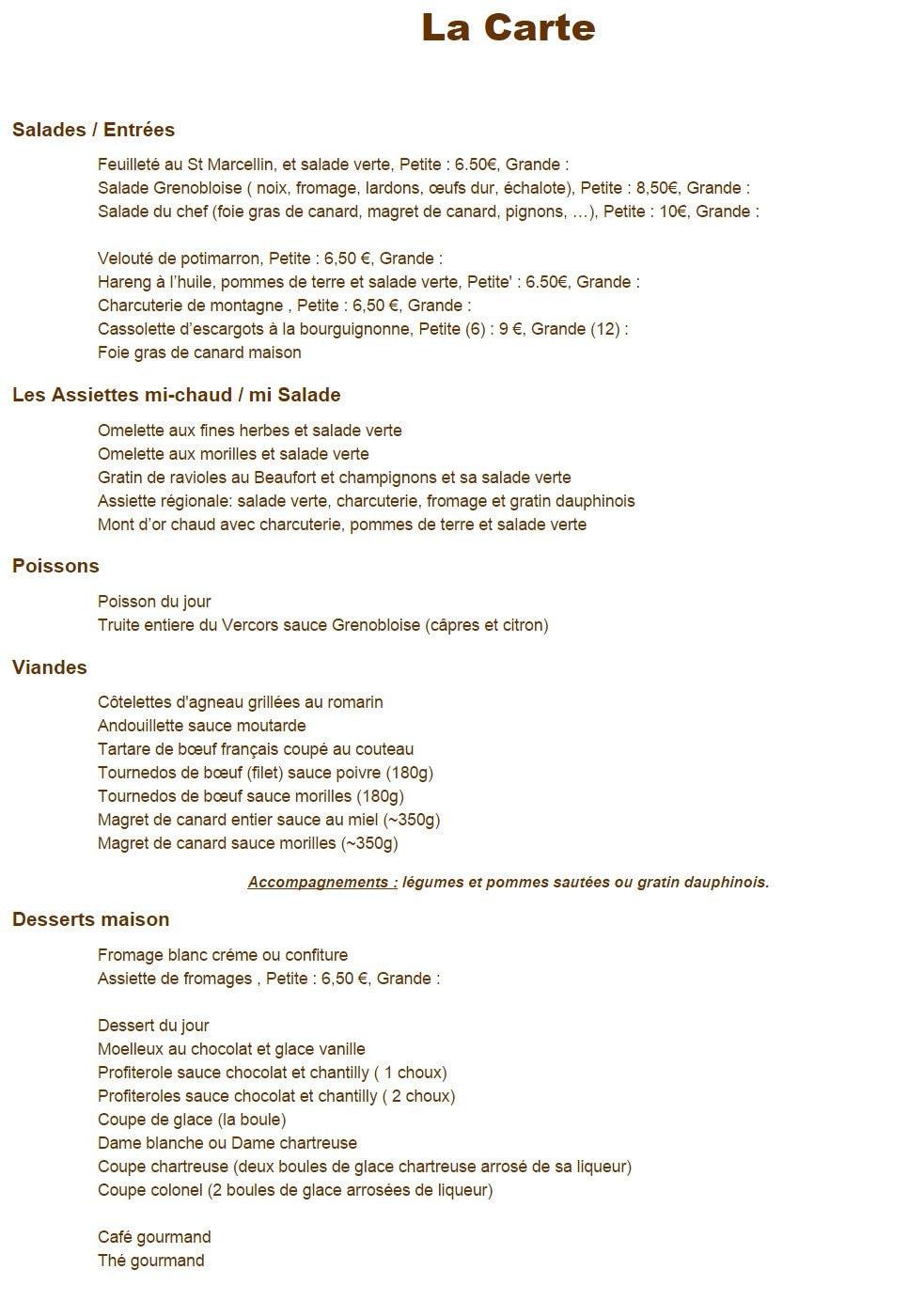 Très La petite idée à Grenoble, carte et menu en ligne BC87