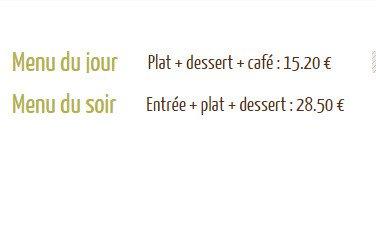 La Salle à Manger à Voiron, carte-menu et photos