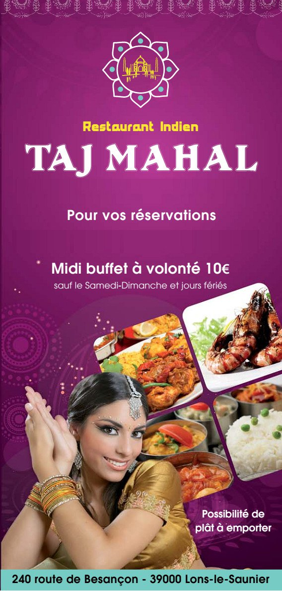 taj mahal lons le saunier carte menu et photos. Black Bedroom Furniture Sets. Home Design Ideas