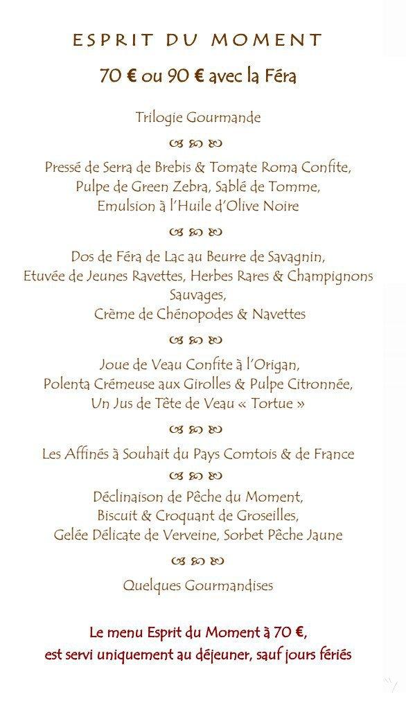 Jean paul jeunet arbois carte menu et photos for Menu ete original