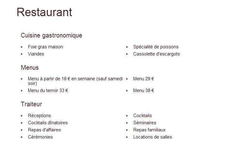 Menu Restaurant La Boule D Or Feurs