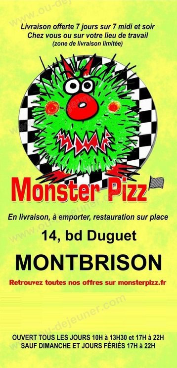 Restaurant Le Rendez Vous Montbrison Menu
