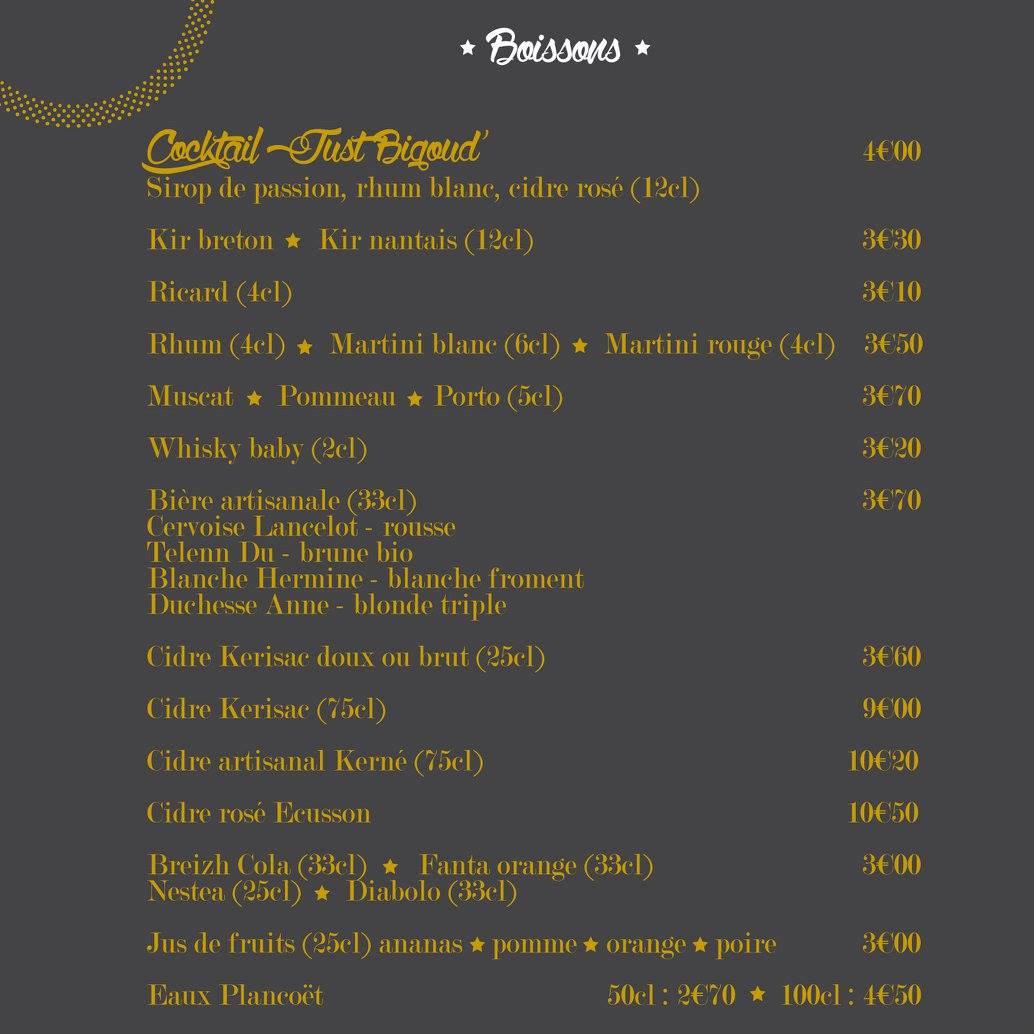 Just Bigoud 224 Nantes Carte Menu Et Photos