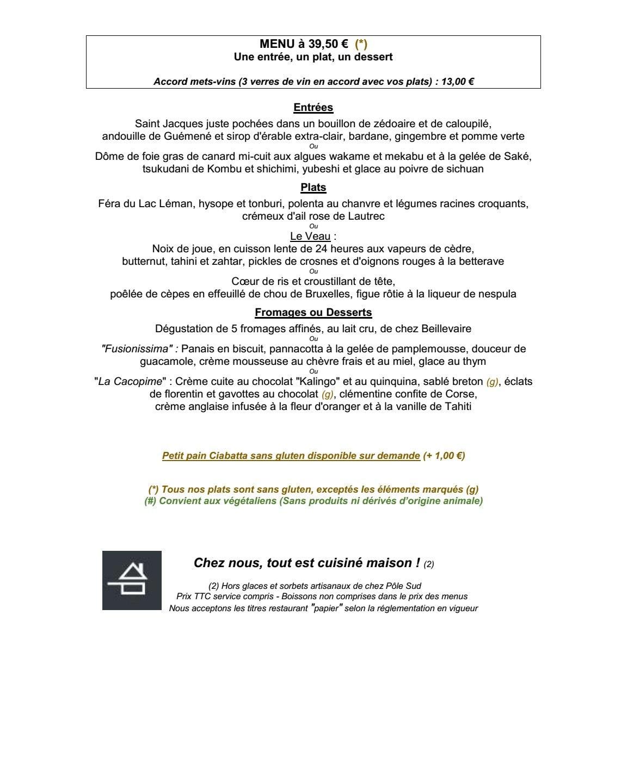 La table des roy nantes carte menu et photos - Restaurant la table des roy ...