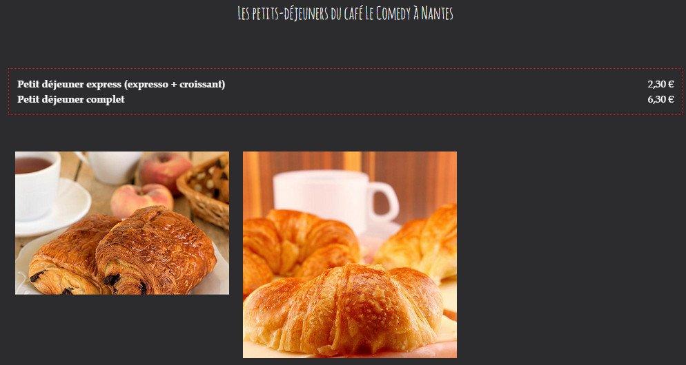 Le comedy nantes carte menu et photos - Petit dejeuner nantes ...