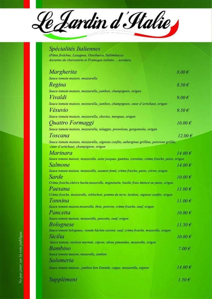 Le jardin d 39 italie nantes carte menu et photos - Le jardin d italie chateauroux ...