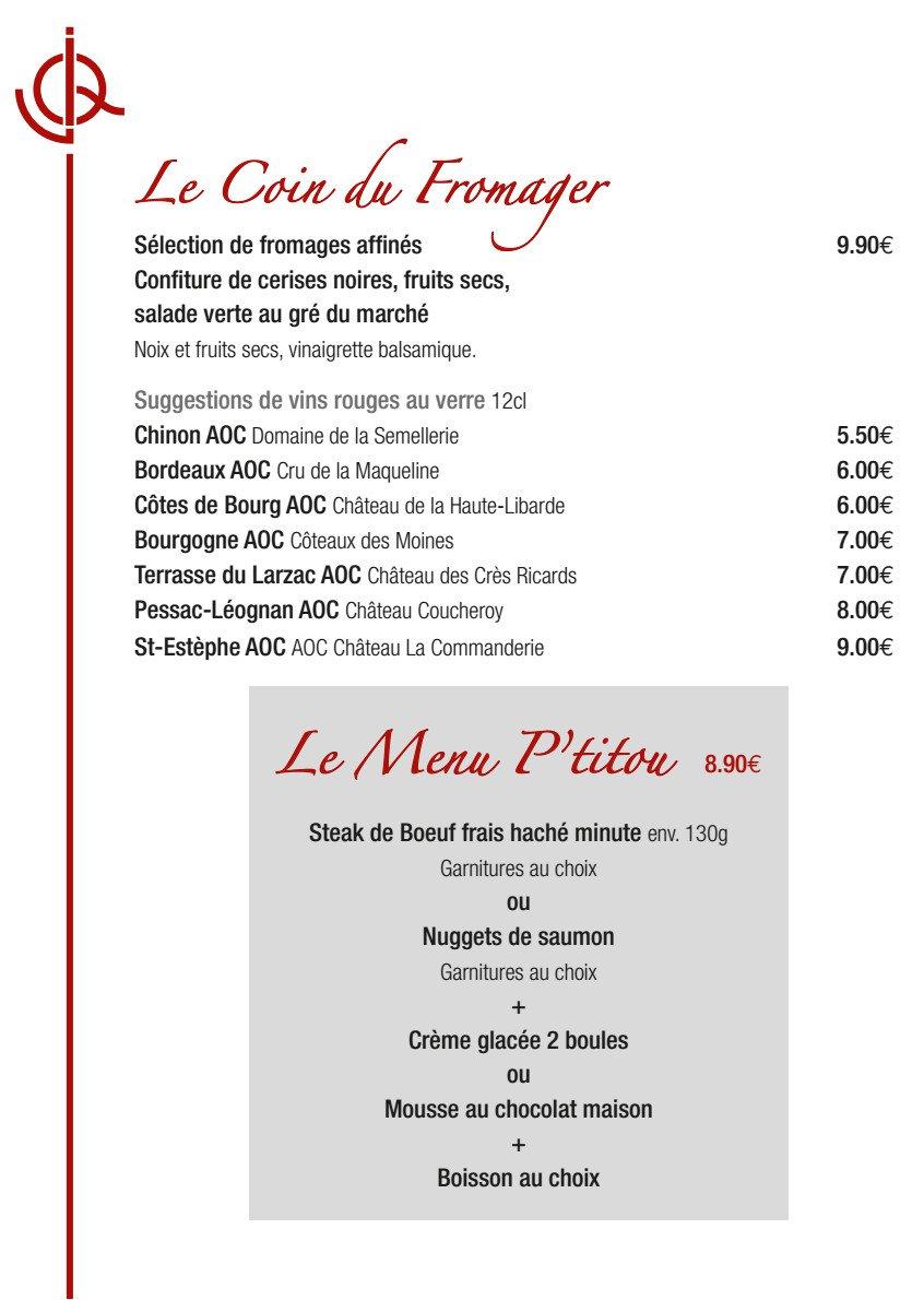 Jean de la queue la haie fouassiere carte menu et photos - Restaurant le gaulois sur le grill barbizon ...