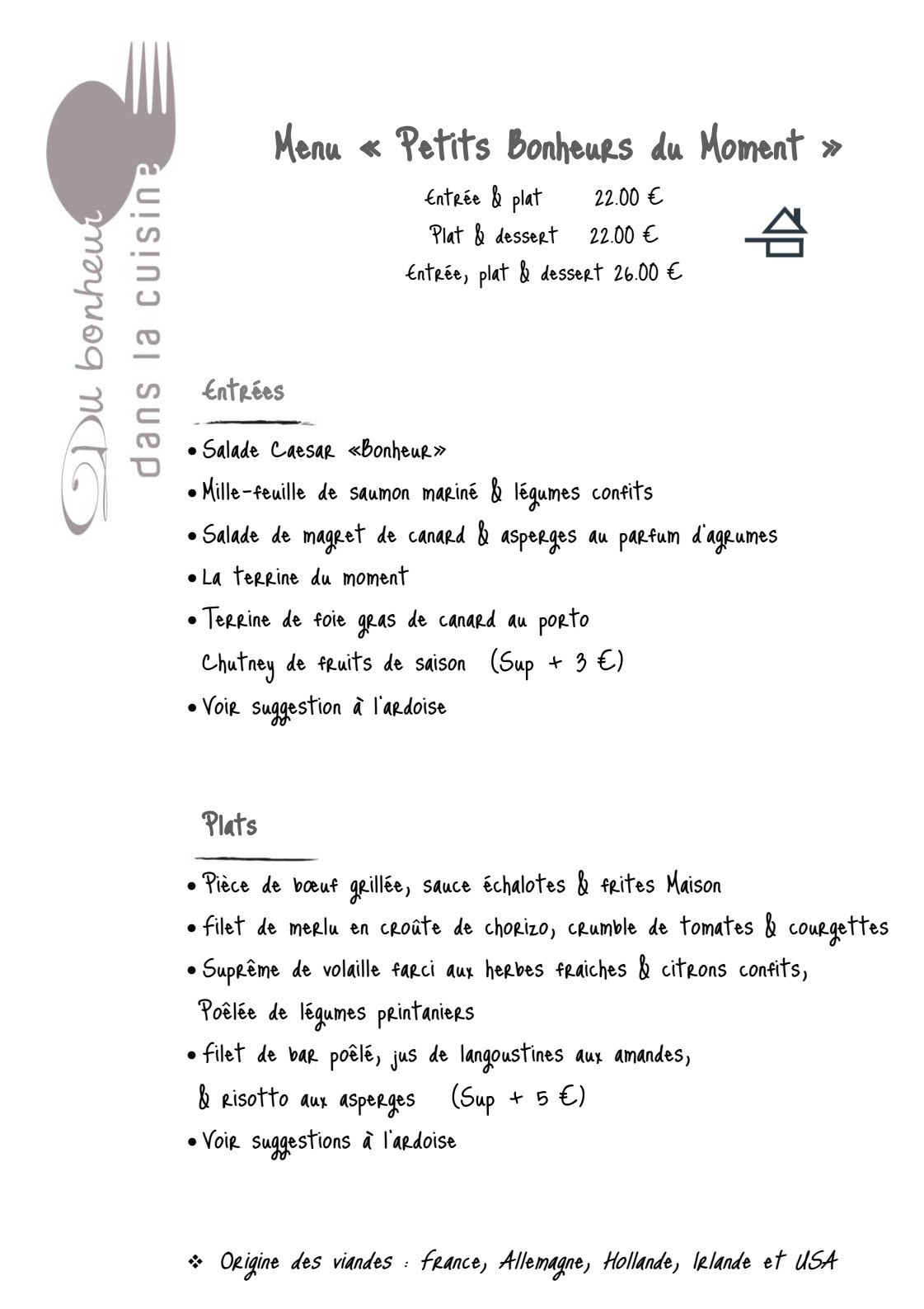 Du bonheur dans la cuisine saint herblain carte menu et photos - Du bonheur dans la cuisine saint herblain ...