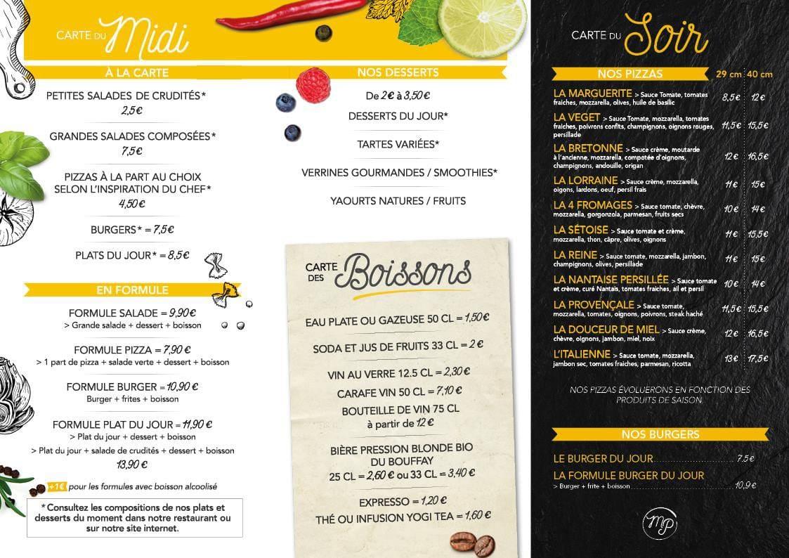 Bellacitta Restaurant Menu