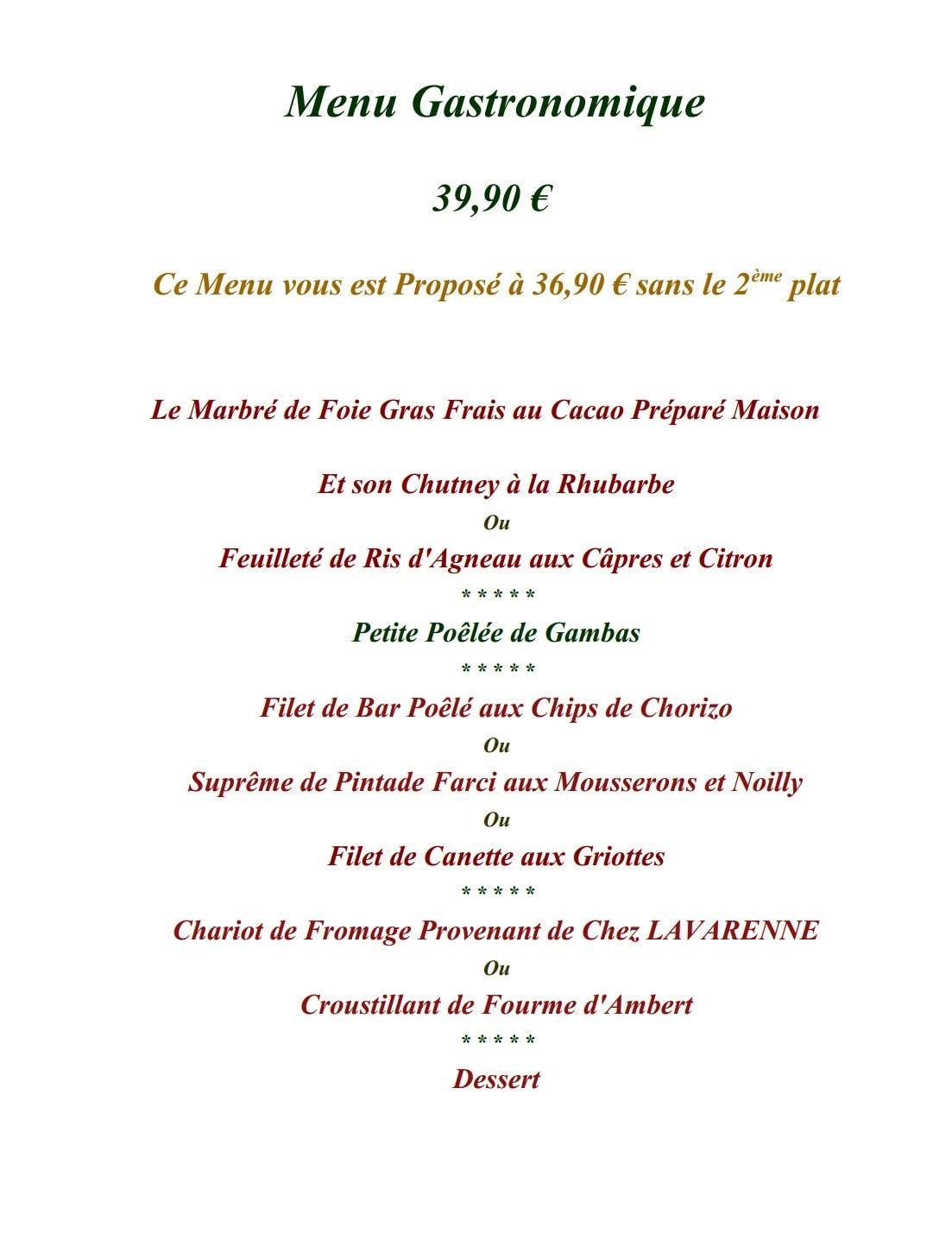 Restaurant des plantes orleans carte menu et photos - Brasserie lutetia menu ...
