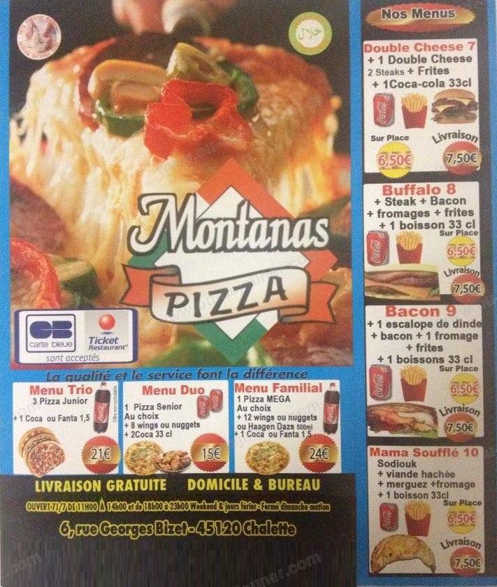 le montanas 224 chalette sur loing carte menu et photos