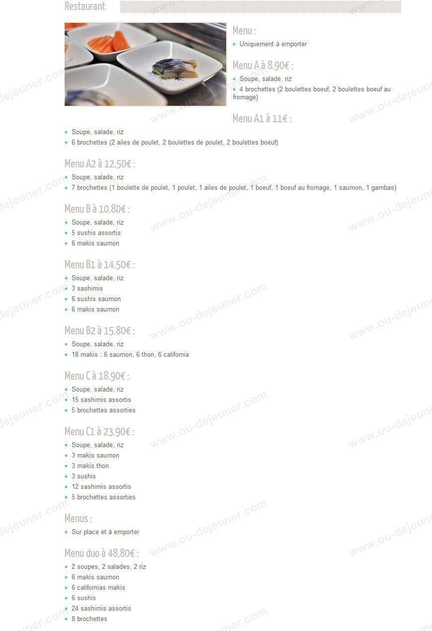 mont fuji olivet carte menu et photos. Black Bedroom Furniture Sets. Home Design Ideas