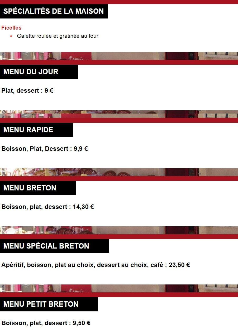Le conn table angers carte menu et photos - Class croute angers ...