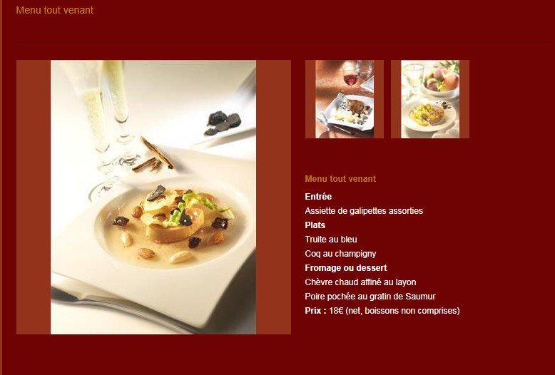 Splendid h tel montreuil bellay carte menu et photos - La grange a dime montreuil bellay ...