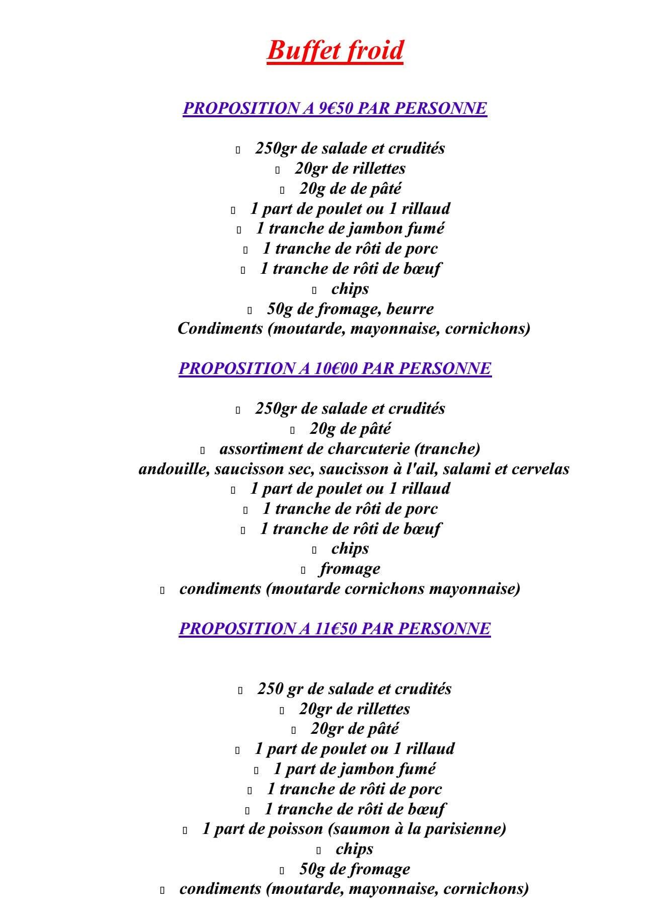 Le mistral montreuil juigne carte et menu en ligne for Menu ete original
