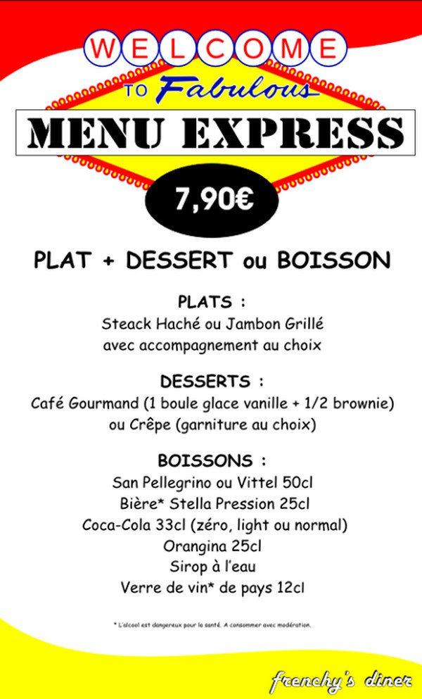 Carte Buffalo Bar Le Duc.Frenchy S Diner A Bar Le Duc Carte Menu Et Photos