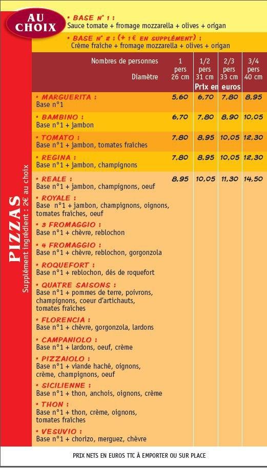 Original pizza grand champ carte menu et photos for Pizza original