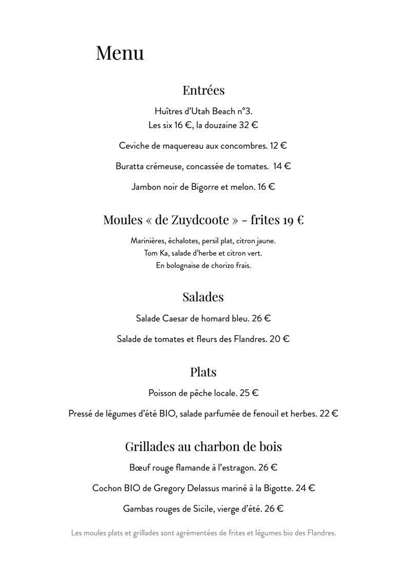 Le restaurant de la piscine roubaix carte menu et photos for Menu ete original