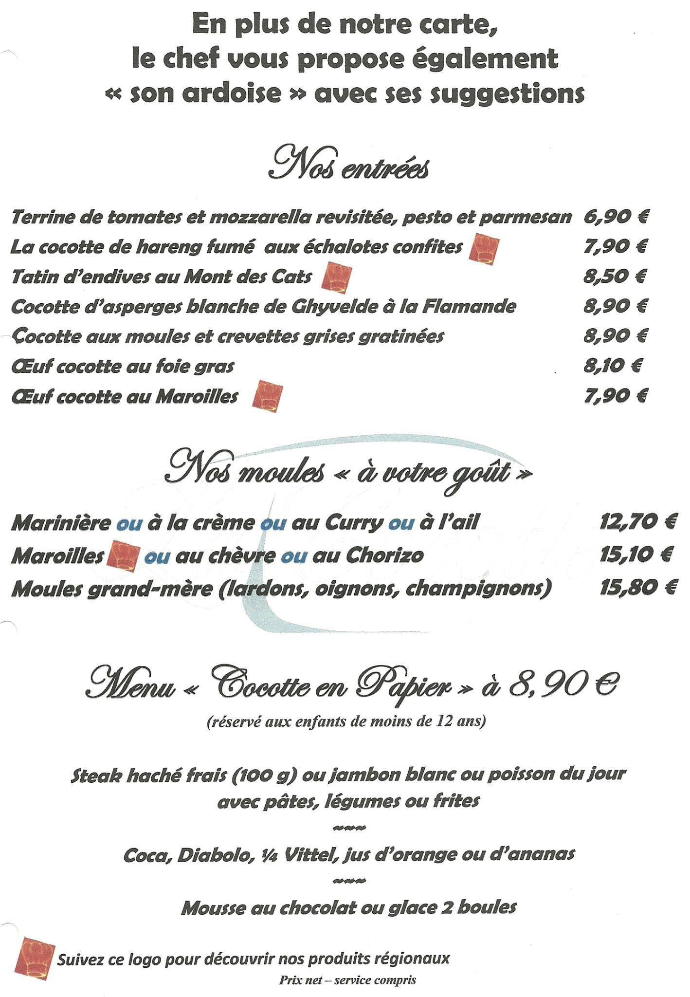 Restaurant Le Figaro Dunkerque Menu