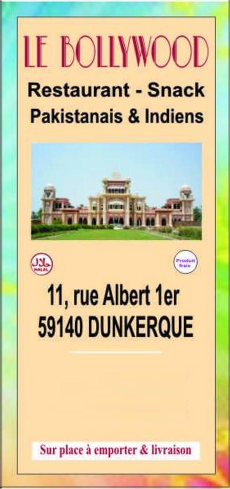 Taj Mahal Restaurant Menu Dunkerque