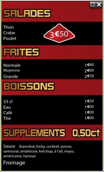 Pyramide kebab tourcoing carte et menu en ligne for Pyramide tourcoing