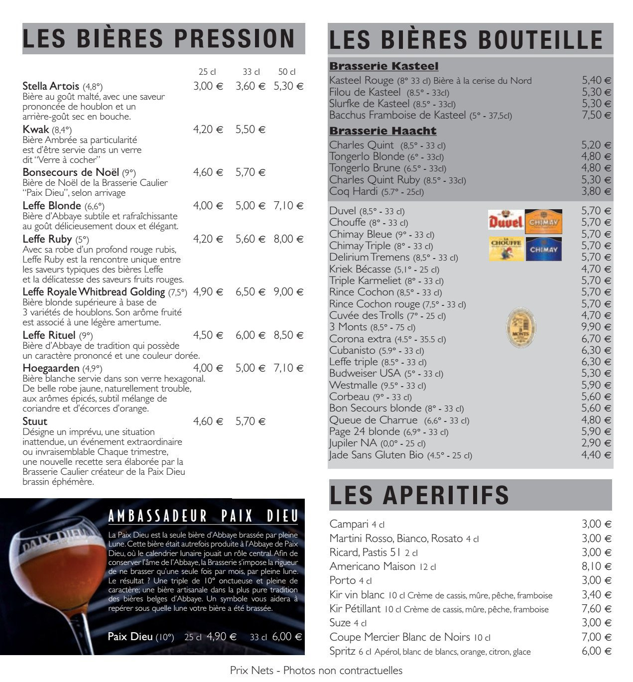 Beers And Co 224 Valenciennes Carte Menu Et Photos