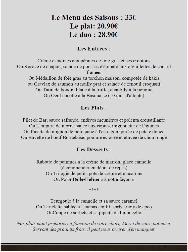 O 39 gout du jour cambrai carte menu et photos - Le gout du jour moulins ...