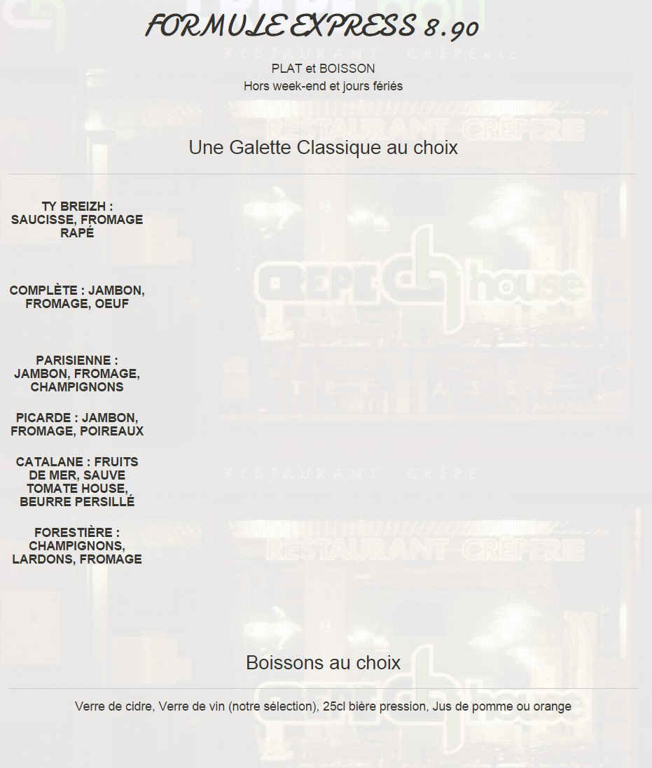 crepe house compiegne carte menu et photos. Black Bedroom Furniture Sets. Home Design Ideas