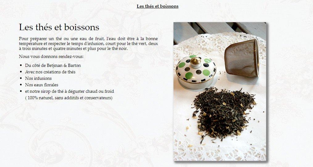 Salon de thé du Jardin des Roses à Compiegne, carte-menu et ...