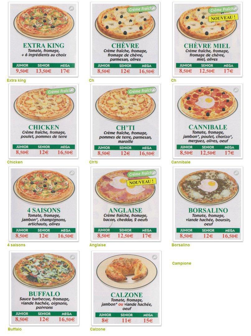 pizza king noyon carte menu et photos. Black Bedroom Furniture Sets. Home Design Ideas