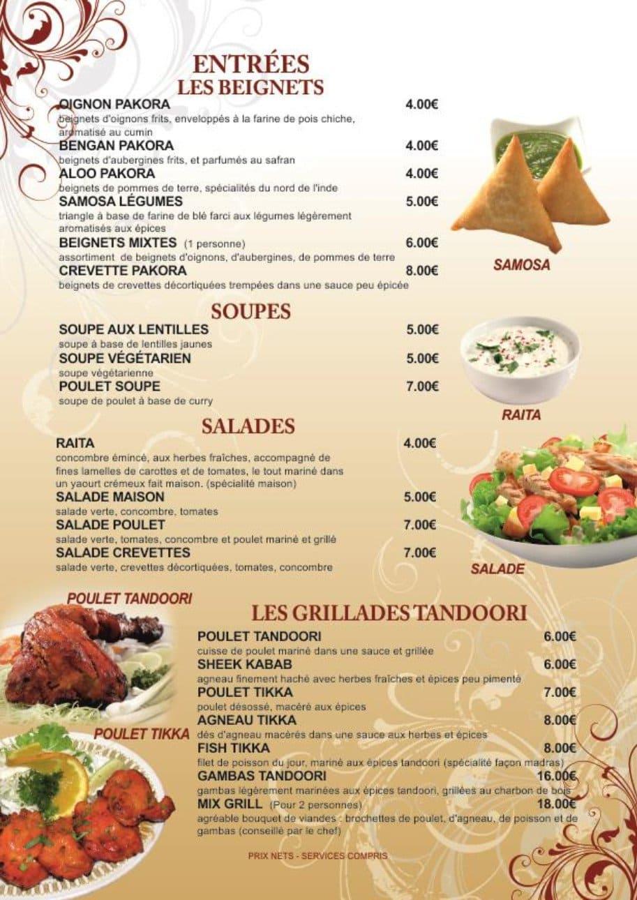 Carte Indien Restaurant.Bombay Palace A Alencon Carte Menu Et Photos