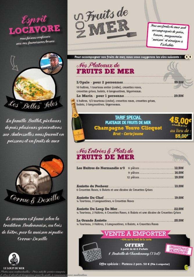 Le loup de mer audresselles carte menu et photos - Cuisiner le loup de mer ...
