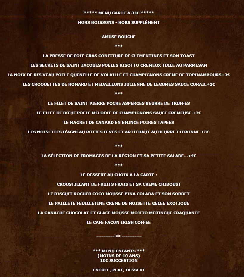 Le fournil coupelle vieille carte menu et photos for Menu ete original