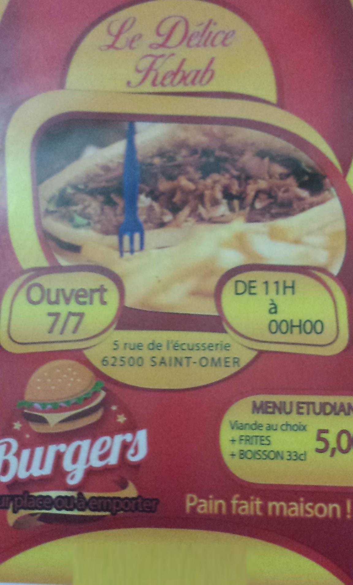 le d 233 lice kebab 224 omer carte menu et photos