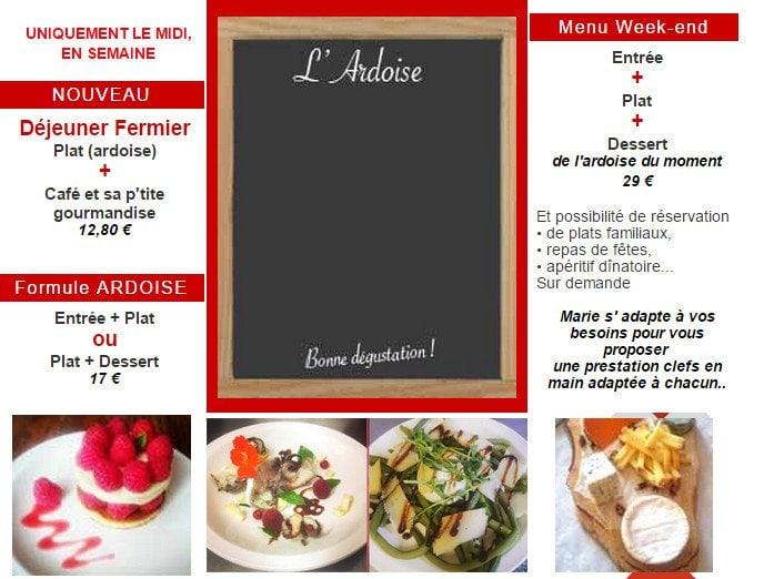 Menu Restaurant De La Clape