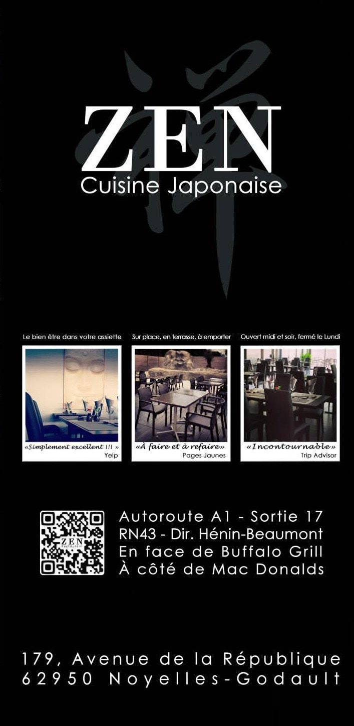 restaurant zen noyelles godault carte menu et photos. Black Bedroom Furniture Sets. Home Design Ideas
