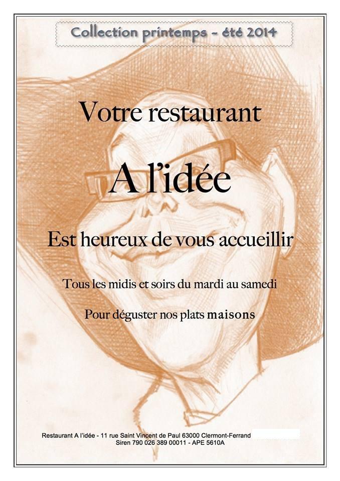 Célèbre A L'idée à Clermont Ferrand, carte-menu et photos LK39