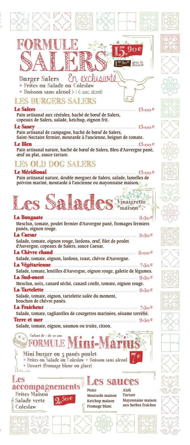 Restaurant L Atelier Clermont Ferrand Menu
