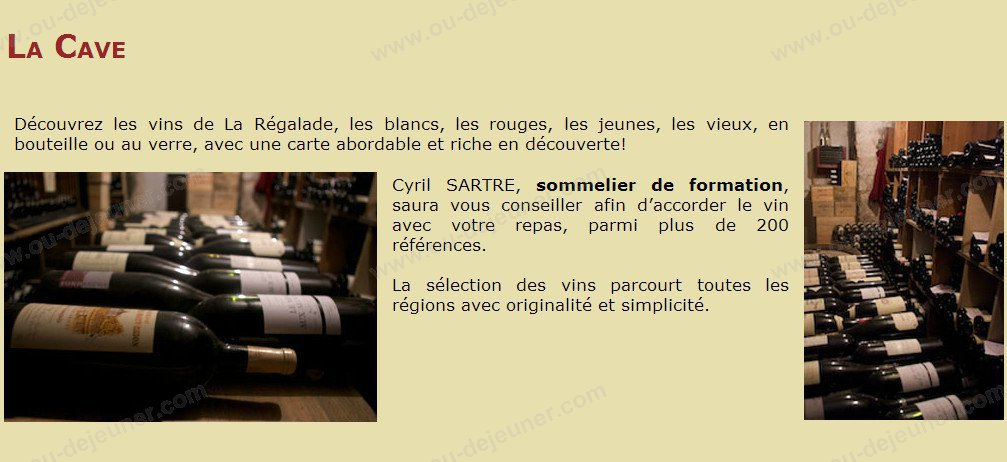 la regalade clermont ferrand carte menu et photos. Black Bedroom Furniture Sets. Home Design Ideas