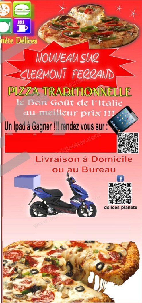 pizzas planete delices clermont ferrand carte et menu en ligne. Black Bedroom Furniture Sets. Home Design Ideas