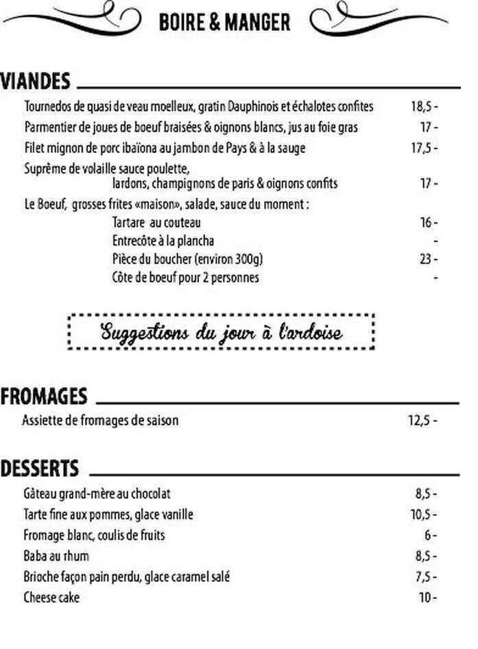 Caf du commerce biarritz carte menu et photos for C du commerce