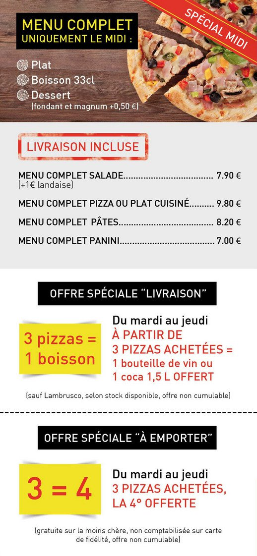 Carte Depizza Restaurant San Pietro