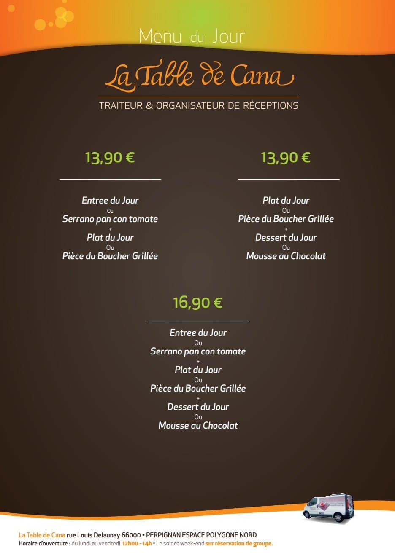 La Table De Cana Perpignan Carte Menu Et Photos