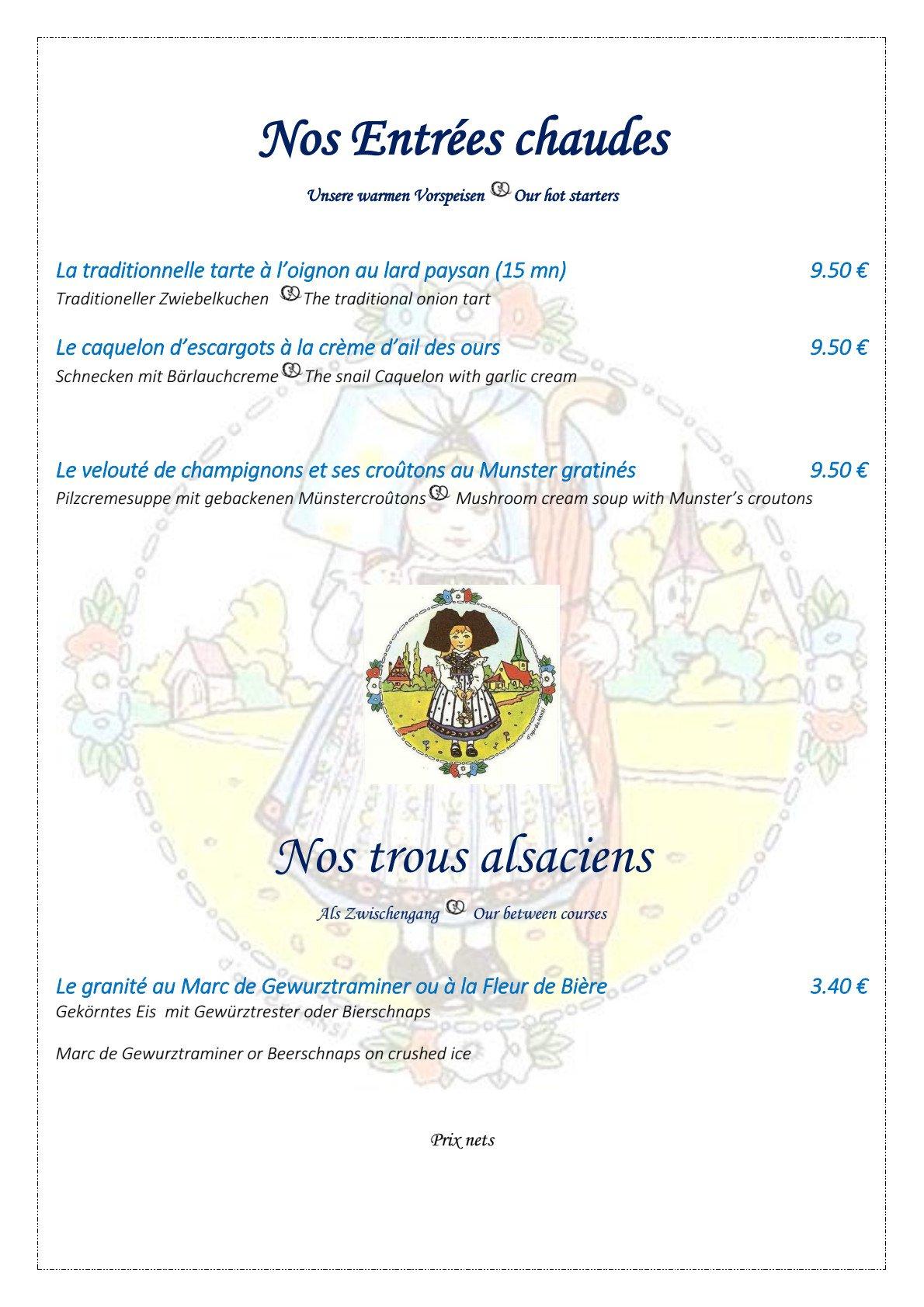 L 39 ami schutz strasbourg carte menu et photos for Entree chaude original